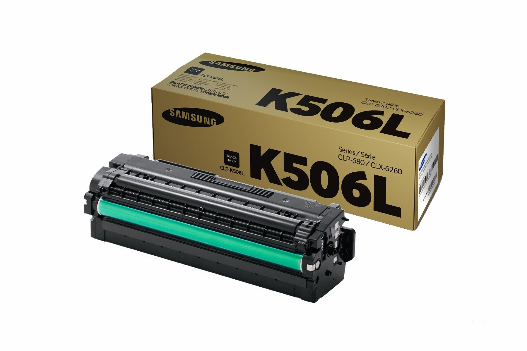 Genuine High Capacity Black Samsung K506 Toner Cartridge (CLT-K506L/ELS)