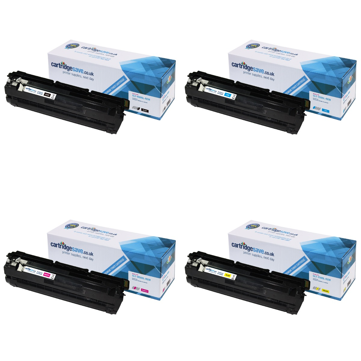 Compatible 4 Colour Samsung 505L Toner Cartridge Multipack - (CLT-C505L/K505L/M505L/Y505L)