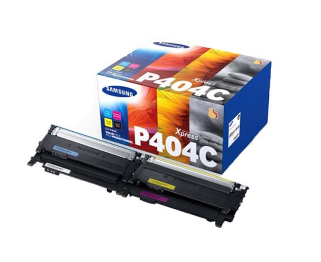 Genuine 4 Colour Samsung P404C Toner Cartridge Multipack - (CLT-P404C contains CLT-K404S/C404S/M404S/Y404S)
