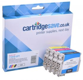 Compatible High Capacity 4 Colour Epson 18XL Ink Cartridge Multipack -  (Replaces Epson T1816 Daisy Inkjet Printer Cartridges)