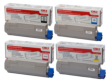 Genuine 4 Colour OKI 4386572 Toner Cartridge Multipack (43865724/3/2/1)