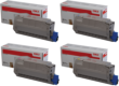 Genuine High Capacity 4 Colour Oki 4239620 Toner Cartridge Multipack - (45396204/3/2/1)