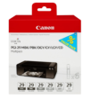 Genuine Monochrome Canon PGI-29 Ink Cartridge Multipack - (4868B018 / PGI-29MBK/PBK/DGY/GY/LGY/CO)