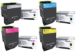 Genuine High Capacity 4 Colour Lexmark 71B2H Toner Cartridge Multipack (71B0HK0/C0/M0/Y0)