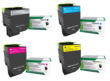 Genuine High Capacity 4 Colour Return Program Lexmark 71B2H Toner Cartridge Multipack (71B2HK0/C0/M0/Y0)