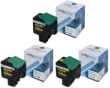 Compatible 3 Colour High Capacity Lexmark 802H Toner Cartridge Multipack - (80C2HC0/80C2HM0/80C2HY0)