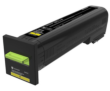 Genuine Extra High Capacity Yellow Return Program Lexmark 82K2XY0 Toner Cartridge - (82K2XY0)