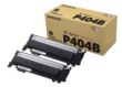 Genuine Black Samsung CLT-P404B Toner Cartridge Twin Pack (CLT-P404B/ELS)