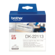 Genuine Brother Black On Clear DK-22113 62mm x 15.24m Continuous Clear Film Tape (DK22113 Tape)