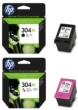 Genuine High Capacity Black & Tri-Colour HP 304XL Ink Cartridge Multipack - (N9K08AE & N9K07AE)