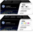 Genuine 5 Colour High Capacity HP 410X Toner Cartridge Multipack - (CF410XD/CF252XM)