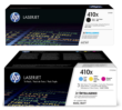 Genuine 4 Colour High Capacity HP 410X Toner Cartridge Multipack - (CF410X/CF411X/CF412X/CF413X)