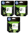 Genuine High Capacity 2 x Black & 1 x Tri-Colour HP 62XL Ink Cartridge Multipack - (2 x C2P05AE & 1 x C2P07AE)