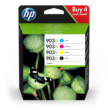 Genuine 4 Colour HP 903XL Ink Cartridge Multipack - (3HZ51AE contains T6M15AE/T6M03AE/T6M07AE/T6M11AE)