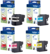 Genuine 4 Colour Brother LC220 Ink Cartridge Multipack (LC-22UBK/C/M/Y)