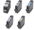 Compatible Canon 5 Colour PGI-7 & PGI-9 Ink Multipack - (PGI-7BK/9PBK/C/M/Y)