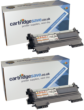 Compatible Twin Pack Brother TN-2010 Black Toner Cartridge (2 x TN2010 Laser Printer Cartridges)