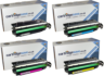 Compatible 4 Colour HP 652X / HP 653A Toner Cartridge Multipack - (CF320X/CF321A/CF323A/CF322A)