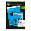 Genuine High Capacity HP 953XL 3 Colour Ink Multipack With A4 Paper - (Inkjet Value Pack)