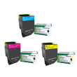 Genuine 3 Colour Return Program Lexmark 71B20 Toner Cartridge Multipack (71B20C0/M0/Y0)