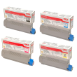 Genuine 4 Colour Oki 4338190 Toner Cartridge Multipack (43324408/ 43381907/ 43381906/ 43381905)