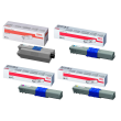 Genuine 4 Colour Oki 4446970 Toner Cartridge Multipack - (44469803/ 44469706/ 44469705/ 44469704)