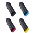 Genuine 4 Colour Dell 593-BBS High Capacity Toner Cartridge Multipack (593-BBSB/BBSD/BBRV/BBSE)
