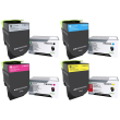 Genuine 4 Colour Lexmark 71B00 Toner Cartridge Multipack (71B0010/20/30/40)