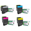 Genuine Extra High Capacity Black/ High Capacity Colour Return Program Lexmark 71B2XK/H Toner Cartridge Multipack (71B2XK0/HC0/HM0/HY0)
