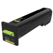 Genuine Extra High Capacity Yellow Lexmark 72K0X40 Toner Cartridge - (72K0X40)