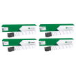 Genuine High Capacity 4 Colour Lexmark 76C0H Toner Cartridge Multipack(Lexmark 76C0HK0/C0/M0/Y0)
