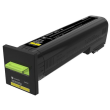 Genuine High Capacity Yellow Return Program Lexmark 82K2HY0 Toner Cartridge - (82K2HY0)