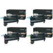 Genuine Extra High Capacity 4 Colour Lexmark C792X2 Toner Cartridge Multipack - (C792X2KG/CG/MG/YG)