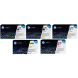 Genuine 5 Colour HP 650A Toner Cartridge Multipack - (2 x CE270A/1A/3A/2A)