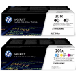 Genuine High Capacity 5 Colour HP 201X Toner Cartridge Multipack - (CF400XD / CF253XM)