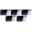 Genuine 5 Colour HP 646X / HP 646A Toner Cartridge Multipack - (2 x CE264X/CF031A/CF033A/CF032A)