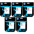 Genuine 5 Colour HP 72 Ink Cartridge Multipack - (C9397A/ C9398A/ C9399A/ C9400A/ C9401A)