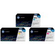 Genuine 3 Colour HP 124A Toner Cartridge Multipack - (HP Q6001A/Q6002A/Q6003A)