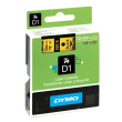 Genuine Dymo 45018 Black On Yellow D1 Labelling Tape 12mm x 7m (S0720580 Tape)