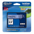 Genuine Brother TZe-141 Black On Clear Laminated P-Touch Labelling Tape 18mm x 8m (TZE-141 Tape)