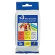 Genuine Brother TZe-31M3 Laminated P-Touch Labelling 12mm Multipack (Contains TZE-231, TZE-431, TZE-631 Label Tapes)