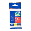 Genuine Brother TZe-435 White On Red Laminated P-Touch Labelling Tape 12mm x 8m (TZE-435 Tape)