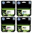 Genuine High Capacity HP 963XL 4-Pack CMYK Ink Cartridges - (3YP35AE)
