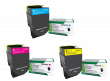 Lexmark 71B20 3 Colour Return Program Toner Cartridge Multipack (71B20C0/M0/Y0)