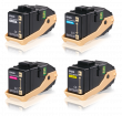 Genuine Multipack 4-Colour Epson S05060 Toner Cartridge - (C13S050602/3/4/5)