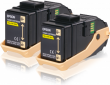 Genuine Yellow Epson S050606 Toner Cartridge Twin Pack - (C13S050606)