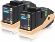Genuine Cyan Epson S050608 Toner Cartridge Twin Pack - (C13S050608)