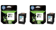HP 301XL High Capacity Black Ink Cartridge Twin Pack (D8J45AE)