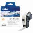 Brother DK-11204 400 x Black On White 17mm x 54mm Multi Purpose Labels Paper