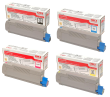 Oki 4338190 4 Colour Toner Cartridge Multipack (43324408/ 43381907/ 43381906/ 43381905)